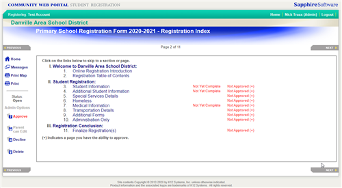 Registration 3rd Page